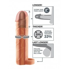 Fantasy X-tensions Perfect 2 inch Extension With Ball Strap
