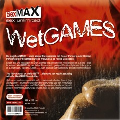 SexMAX WetGAMES Sex-Laken, 180 x 220 cm, Schwarz (fitted sheet, black)