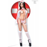 CR 3854  L/XL  White Sexy Nurse Costume Dress