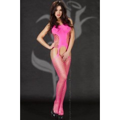 CR 3282 S/L Pink Bodystocking