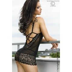 CR 3020 S/M Black Babydoll + String