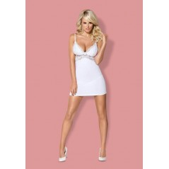 810-CHE-2 chemise & thong white L/XL