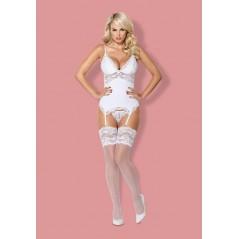 810-COR-2 corset & thong white L/XL