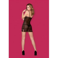 856-CHE-1 chemise & thong  S/M