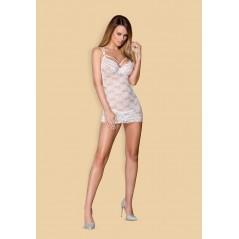 860-CHE-2 chemise & thong white  S/M