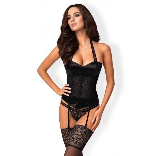 Ailay corset & thong black  S/M