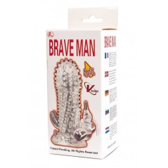 Brave Man Penis Sleeve With Bullet Clear